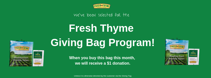 CERV Selected for Fresh Thyme Giving Bag Program